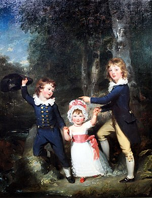 George Cavendish, 1st Earl of Burlington - Portrait of the Children of Lord George Cavendish, 1790, by Sir Thomas Lawrence