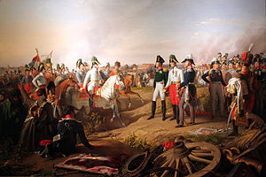 Klemens von Metternich - Prince of Schwarzenberg and three allied monarchs after the battle of Leipzig, 1813. Painting by Johann Peter Krafft.