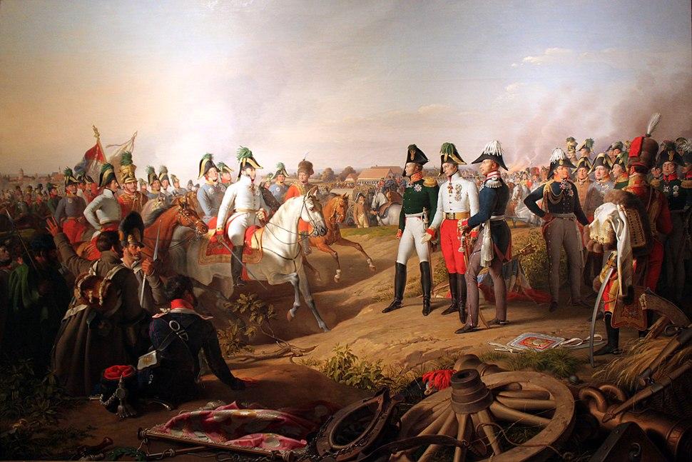 1839 Krafft Siegesmeldung nach der Schlacht bei Leipzig 1813 anagoria