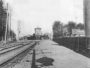 Roseville Avenue station - Roseville Avenue station before the track depressing in the 1890s