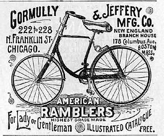 Rambler (bicycle company) - Image: 1891gormullyjefferya d