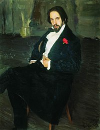 1901. Portrait of Ivan Bilibin by B. Kustodiev.jpg
