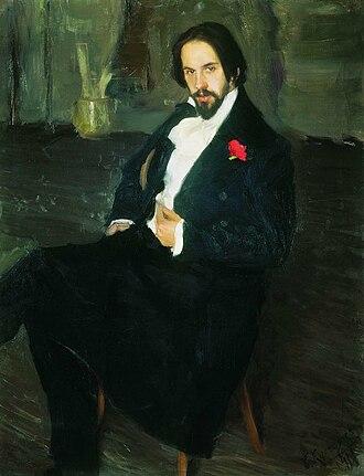 1942 in fine arts of the Soviet Union - Image: 1901. Portrait of Ivan Bilibin by B. Kustodiev