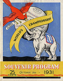 Cover of a souvenir program