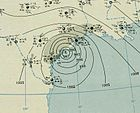 1942 Palacios hurricane analysis 28 Aug 1942.jpg