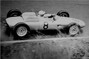 Jo Bonnier - Bonnier at 1962 German Grand Prix driving a Porsche 804.