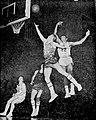 1963 Loyola v Tennessee Tech, Eddie Mason shoots on Ron Miller.jpg