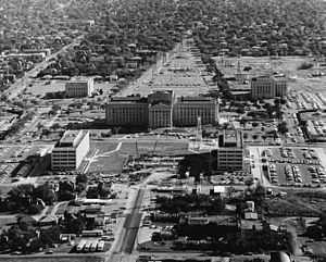 Politics of Oklahoma - Oklahoma State Capitol in 1963.