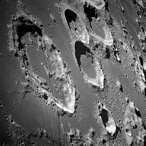 Crater Illusion - The original Apollo 8 Photograph of the Moon's Goclenius Crater