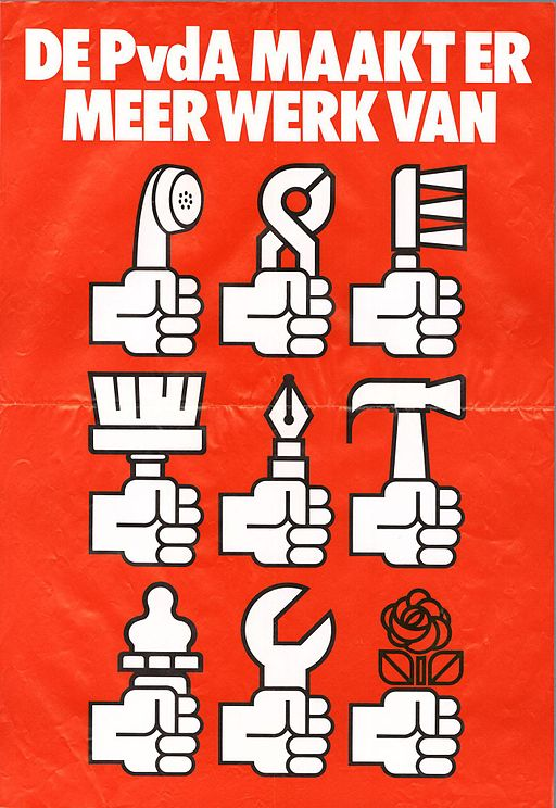 1981 election poster PvdA