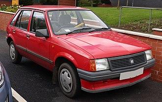 Opel Corsa - Image: 1990 Vauxhall Nova L 1.2 Front