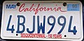 1998 California license plate 4BJW994.jpg
