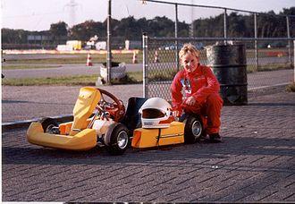 Renger van der Zande - van der Zande in 1998 with his first go kart
