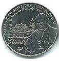 1 песо. Куба. 1998. Иоанн Павел II.jpg