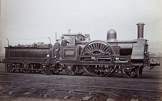 LNWR 2-2-2 3020 Cornwall - Numbered 3020 in 1886, Cornwall rebuilt as a 2-2-2