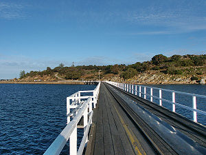 Victor Harbor, South Australia - Causeway leading to Granite Island from Victor Harbor