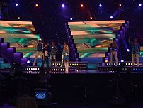 Estonia rehearsing at Eurovision 2006. Taken by Chris Melville.