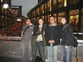 2007 film crew for Truth in Numbers with Wikipedian Theodorian in Taipei, Taiwan.jpg