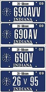 Vehicle registration plates of Indiana - Wikipedia