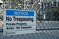 2009-02-26 Progress Energy sign - No Trespassing - No Traspasar.jpg