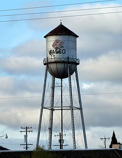 Water tower in Wasco