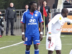 Bafétimbi Gomis - Gomis playing for Lyon against Brest in 2013.