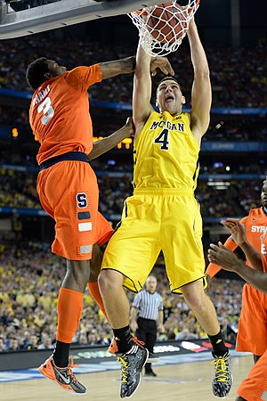 Mitch McGary - McGary dunks against Jerami Grant in the 2013 NCAA Men's Division I Basketball Tournament on April 6