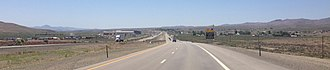 Osino, Nevada - View west along Interstate 80 in Osino
