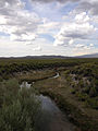 2014-07-30 17 22 28 View north down the Reese River from U.S. Route 50 in Lander County, Nevada.JPG