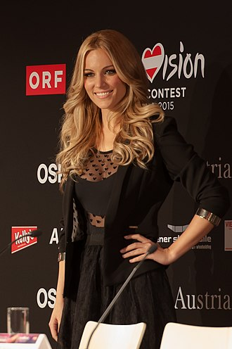 Spain in the Eurovision Song Contest 2015 - Edurne during a press conference