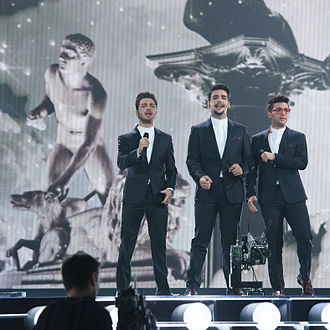 Italy in the Eurovision Song Contest 2015 - Il Volo at a dress rehearsal for the final
