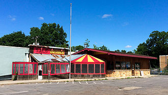 Famous Dave's - Famous Dave's second location was in the Linden Hills neighborhood of Minneapolis and was built in 1995 to look like a classic BBQ shack; it was demolished in 2016.