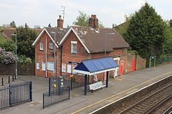 2015 at Redbridge station - old station buildings.JPG