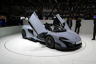 McLaren 650S - 675LT Spider at the 2016 Geneva Motor Show.