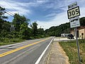 2017-07-21 15 15 37 View north along West Virginia State Route 305 (Central Avenue) at Christian Avenue in Lester, Raleigh County, West Virginia.jpg