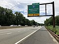 2018-07-21 12 16 08 View south along New Jersey State Route 444 (Garden State Parkway) north of Exit 159 (Interstate 80, Saddle Brook, Paterson) in Rochelle Park Township, Bergen County, New Jersey.jpg