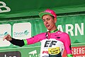 2018 Tour of Britain stage 2 - best British rider Hugh Carthy.JPG
