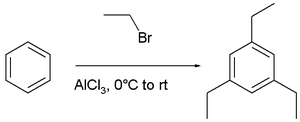 Friedel–Crafts reaction - synthesis of 2,4,6-triethylbenzene