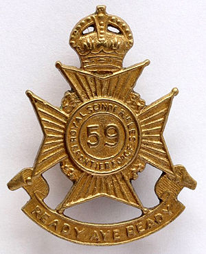 59th Scinde Rifles (Frontier Force) - Image: 59th Scinde Rifles badge
