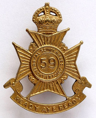 Bakhtiar Rana - Image: 59th Scinde Rifles badge