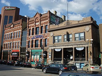 St. Cloud, Minnesota - Buildings on 5th Avenue in downtown in 2008