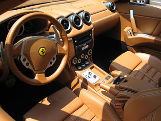 Ferrari 612 Scaglietti - Interior with F1 paddle shift transmission