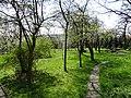 616167 małopolskie gm Słomniki Słomniki kościół ogród 1. jpg.JPG