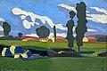 81 - Paysage aux peupliers - Georges Gaudions, 1913 - Huile sur carton - Musée du Pays rabastinois.jpg