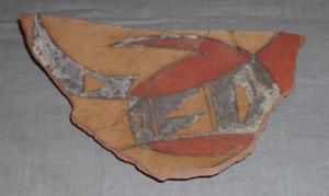 Pottery Mound - Pottery Mound Polychrome sherd