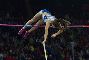 Athletics at the 2016 Summer Olympics – Women's pole vault - Stefanidi won the gold medal