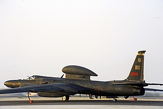 99th Reconnaissance Squadron - U-2 Dragon Lady 80-1089 from the 99th Expeditionary Reconnaissance Squadron taxis to the runway for takeoff