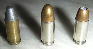 Author's own picture. 9 mm pistol cartridge