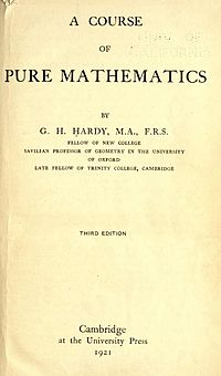 A Course of Pure Mathematics cover