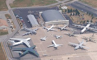 Air Mobility Command Museum - Aerial view of the Air Mobility Command Museum in Dover, Delaware